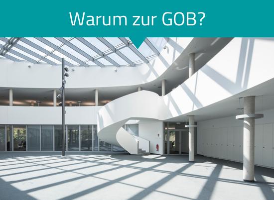 Das Bild zeigt das Firmengebäude der GOB von innen.